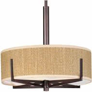 ET2 E95305 Elements Small 16  Stem-mounted Modern Pendant Light with Round or Square Shade - 3 Color Options