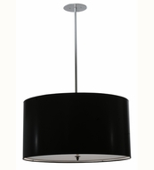 Meyda Tiffany 113851 Cilindro Black Contemporary Paper Pendant