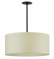 Meyda Tiffany 67872 Cilindro Ivory Contemporary Pendant with Black Trim