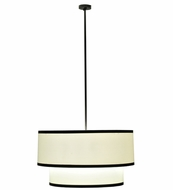 Meyda Tiffany 111521 Cilindro Two Tier Fabric Pendant