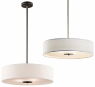 Kichler 42121 Small 20 Inch Diameter Modern Pendant Drum Light - Nickel or Bronze