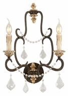 Troy B3512 Bordeaux Traditional 2 Candle Wall Light Sconce - Parisian Bronze