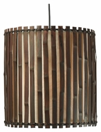 Kenroy Home 92034BRZ Grove 15 Inch Tall Dark Split Bamboo Drop Lighting