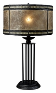 Dimond D1849 Mica Filagree 23 Inch Tall Antique Black Table Light