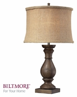 Dimond D2241 Pisgah Dark Oak 27 Inch Tall Wooden Table Lamp Lighting