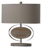 Dimond D2296 Hereford 18 Inch Tall Bleached Wood Bedroom Table Lamp