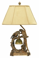 Dimond 91-507 Twin Parrots 25 Inch Tall Rustic Bed Lamp - Atlanta Bronze