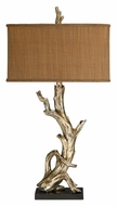 Dimond 91-840 Driftwood 34 Inch Tall Rustic Table Lighting - Silver Leaf