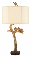 Dimond 93-052 Three Bird Light Rustic 31 Inch Tall Gold Leaf Bedroom Table Lamp