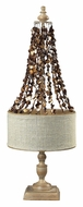 Dimond 93-9251 Rockyford 32 Inch Tall Bleached Wood Living Room Table Lamp