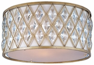 Maxim 21452OFGS Diamond Large 3-lamp Crystal Flush Mount Light Fixture