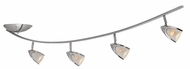 Access 52035-BS Comet 4-Light Ceiling Light Fixture in Brushed Steel