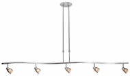 Access 52033-BS Comet 5-Light Ceiling Light Fixture in Brushed Steel