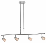 Access 52032-BS Comet 4-Light Ceiling Light Fixture in Brushed Steel