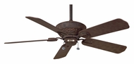 Casablanca 62521 Estrada Transitional Rustic Iron Finish 3 Speed Pull Chain Ceiling Fan