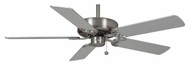 Casablanca 62772 Four Seasons III Pull Chain Brushed Nickel Finish 3 Speed Ceiling Fan