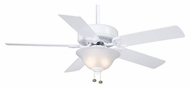Casablanca 84G11D Four Seasons III Gallery 52 Inch Span Snow White Finish Ceiling Fan Light Fixture