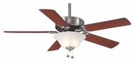 Casablanca 64429 Four Seasons III Gallery Brushed Nickel 3 Speed Ceiling Fan Lighting - 52 Inch Span