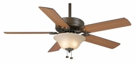Casablanca 84G73D Four Seasons III Gallery Transitional 52 Inch Span Ceiling Fan With Light Kit - Oil Rubbed Bronze