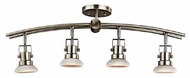 Kichler 7755NI Structures Contemporary 4-Lamp Directional Rail Light in Brushed Nickel
