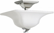 Feiss SF236-PN American Foursquare 11 inchsq Opal and Nickel Semi-flush Mount Ceiling Light