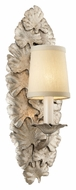 Troy B3631 Portobello Silver Leaf 15 Inch Tall Traditional Wall Sconce Lighting