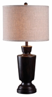 Kenroy Home 32235DM Leslie 30 Inch Tall Dark Mahogany Finish Table Light