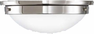 Feiss FM228-PN American Foursquare 13 inch diameter Opal and Nickel Flush Mount Ceiling Light
