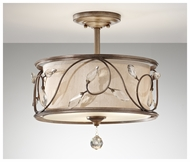 Feiss SF300ARS Priscilla Semi-Flush Mount Ceiling Light
