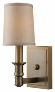 ELK 31260/1 Baxter Transitional Brushed Antique Brass Wall Sconce Light Fixture