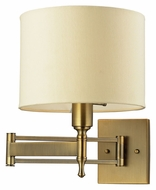 ELK 10260/1 Pembroke 14 Inch Tall Brass Swing Arm Wall Lamp