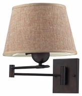 ELK 10291/1 Swingarms 1 Light Fabric Shade Bronze Bedside Lamp