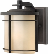 Hinkley 1126-MR-EST Ledgewood 7 1/4: outdoor fluorescent wall sconce n Museum Bronze