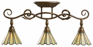 Kichler 7702TZG 3 Halogen Lamp Tiffany Swivel Head Monorail Lighting - Bronze Finish