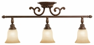 Kichler 7713TZG Larissa Halogen 23 Inch Long 3 Lamp Monorail Lighting - Tannery Bronze