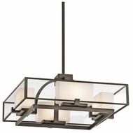 Kichler 42826OZ Isola 4-light Convertible Contemporary Ceiling Light/Hanging Pendant Lamp