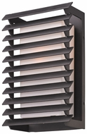 Troy B3302 Shutters Medium 13 Inch Tall Forged Iron Finish Outdoor Sconce