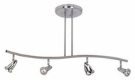 Artcraft AC4834 Rocket 4-light Contemporary Monorail Light with Brushed Nickel