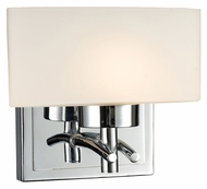 ELK 17080/1 Eastbrook Transitional Chrome 6 Inch Tall Halogen Wall Sconce Light Fixture