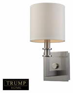 ELK 20150/1 Seven Springs 12 Inch Tall Transitional Wall Sconce Light Fixture - Satin Nickel