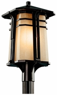 Kichler 49179 North Creek 21 Inch Tall Craftsman Outdoor Post Light Fixture - Bronze