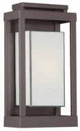 Quoizel PWL8307WT Powell Bronze 13 Inch Tall Small Modern Outdoor Sconce