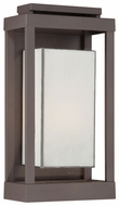 Quoizel PWL8309WT Powell 17 Inch Tall Contemporary Exterior Light Sconce - Bronze