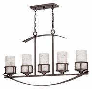 Quoizel KY540IN Kyle 40 Inch Wide Iron Gate Finish 5 Lamp Kitchen Island Light
