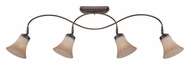 Quoizel ALZ1404PN Aliza 4 Lamp Palladian Bronze Monorail Lighting Kit