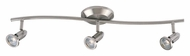 ET2 E30003-10 Agron 27 Inch Wide Satin Nickel Finish 3 Lamp Monorail Light - Halogen