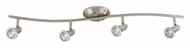 ET2 E30004-10 Agron Transitional 4 Lamp Satin Nickel Monorail Light Kit - 34 Inches Wide