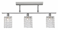 EGLO 85328A Pyton Chrome 3 Lamp Crystal Monorail Lighting Kit - 20 Inches Wide