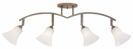 Quoizel QTR10064PN Kalmar Curved 4 Lamp Bronze Monorail Lighting Fixture