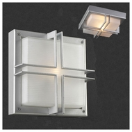 PLC 8026 Piccolo Contemporary Fluorescent Exterior Flush-Mount Wall Sconce/Ceiling Light